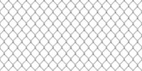 Wide realistic glossy metal chain link fence on white