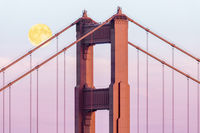 October Moonrise over the Bridge.