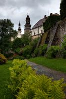 NACHOD, CZECH REPUBLIC - MAY 29, 2009: The gardens at Nachod Castle in north-eastern Czech Republic