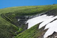 Beautiful landscape with glacier in the highlands of  Artvin