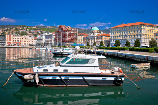 City of Trieste waterfront and harbor view