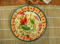 Sun Dried Tomato Alfredo With Zucchini Spaghetti