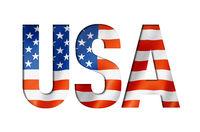 USA flag text font