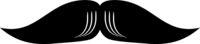 English Moustache Icon Vector
