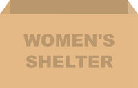 Womens Shelter Donation Box Vector