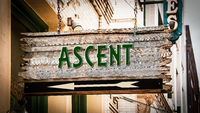 Street Sign to Ascent