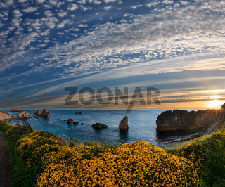 Blossoming sunset Arnia Beach