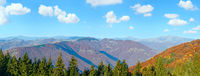 Autumn mountain panorama