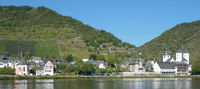 Wine Village of Treis-Karden in Mosel Valley at Mosel River,Rhineland-Palatinate,Germany