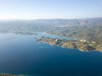 Aerial View Kalekoy Ucagiz Landscape Turkey