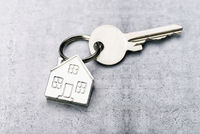 Key with house as a key chain