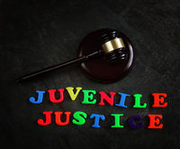 Juvenile Justice letters and gavel