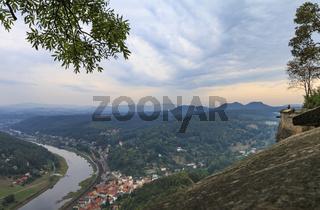 Festung Königstein, sächsische Schweiz, Elbe, Sachsen, Deutschland, September