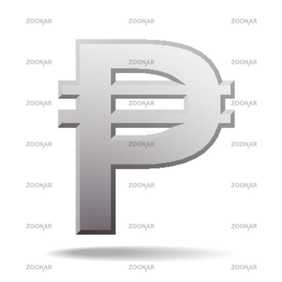 Photo Philippine Peso Currency Symbol Image 12160968