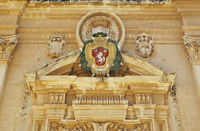 Details of the Saint Paul cathedral in Mdina