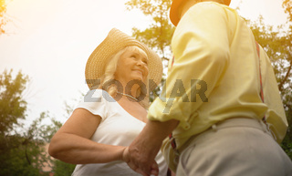 The Old Couple Holding Hands2