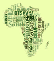 African countries in shape of the continent
