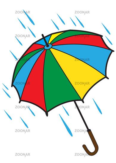 Bright open umbrella