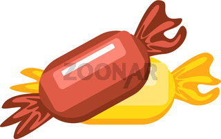Two Chocolates vector color illustration.