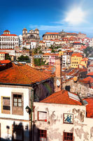 View of the old town Ribeira of Porto