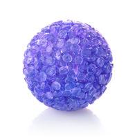 Blue plastic bell pet ball