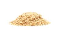 Weizenkeime auf weißem Hintergrund - Wheat germs on white background