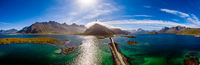 Fredvang Bridges Panorama Lofoten islands