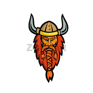 Angry Norseman Head Mascot