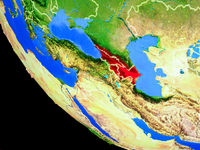 Caucasus region on Earth from space