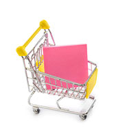 Note paper in shopping cart