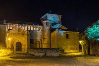 Plaza de Mayor in Santillana del Mar, Cantabria, Spain