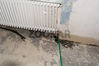 Old metal radiator