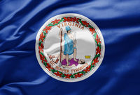Waving state flag of Virginia - United States of America