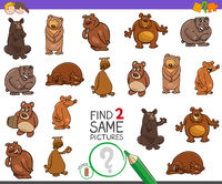 find two same bears characters game for kids
