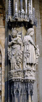 Ulm, sculptures on the main portal of the Muenster