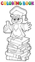 Coloring book chemistry owl teacher 2