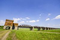 Ruins of Elbe bridge Dömitz, Lower Saxony, Germany