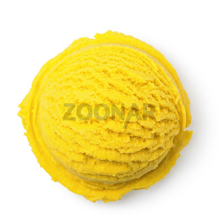 Scoop of mango ice cream