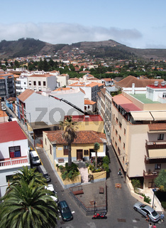 cityscape view of La Laguna in Tenerife panoramic view