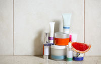 Face cream, serum, lotion, moisturizer and face oil among grapefruit and lavender