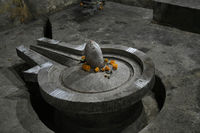 Shiva Statue in form of Pindi and Linga at Shiva temple opposite Vitthal Temple, Palashi, Parner, Ahmednagar