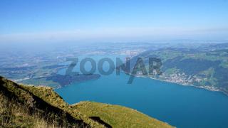 Der Zugersee in der Schweiz