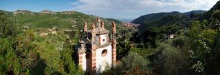 Panoramaausblick Kirche 'Signora di Loreto' - Finale Ligure - Ligurien