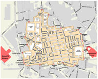 Map of the Grand Bazaar in the Fatih district of Istanbul