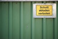 Container wall with sign