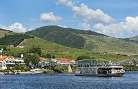 Small town Pinhao,  centre of port wine production at the Rio Douro, Douro Valley, Region, Portugal