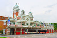 Bus by Singapore fire station