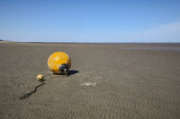 Cuxhaven - Tidal flats with buoy, Germany