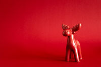 Christmas decoration red deer background