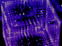 Vector blur - purple technology background with light effects